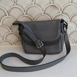 Clarks Gray Crossbody Bag Buckle Strap